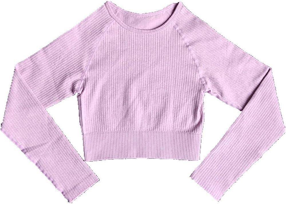 N\P Camiseta deportiva de manga larga para mujer con camiseta deportiva y camiseta de fitness