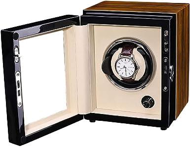 CHHMAELOVE Cajas Giratorias Cargador De Reloj con Motor Silencioso,Cargador para Relojes AutomáTicos,Cajas Giratorias para 1 Relojes Automaticos,Estuche Bobinadora para 1 Reloje,Brown: Amazon.es: Ropa y accesorios