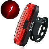 Eclairage Arrière, BIGO COB LED Lumière Arrière pour Vélo Puissante USB Rechargeable Lampe de vélo, 4/6 Modes d'éclairage pour VTC VTT, Antichoc Impermeable