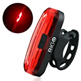 USB Rechargeable LED Bike Tail Light BIGO Bike Rear Light Powerful Bright and Easy Install on Bicycles, Helmets Safety Taillight for Optimum Cycling Safety