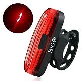 Fahrrad Rücklicht, BIGO Ultra Hell LED USB Aufladbar Wasserdichte Fahrradlicht Fahrradbeleuchtung Fahrradlampe Fahrradrücklicht Lichter mit 4/6-Modi-Optionen Geeignet für Helm und Fahrrad etc