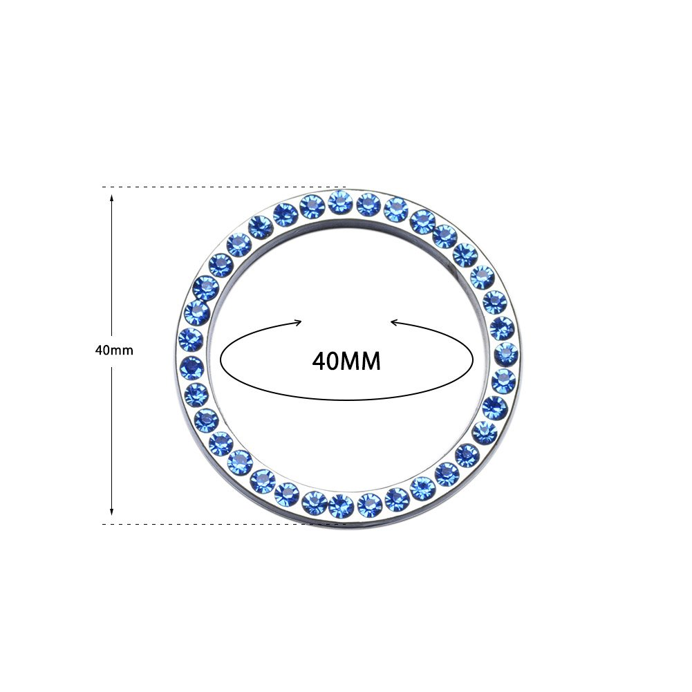 Start Button Key Decoration Ring Zinc Alloy Crystal Material Button Stickers Interior Modification Decoration For Honda Hyundai Cars Color Blue kjdstore 0504-14B