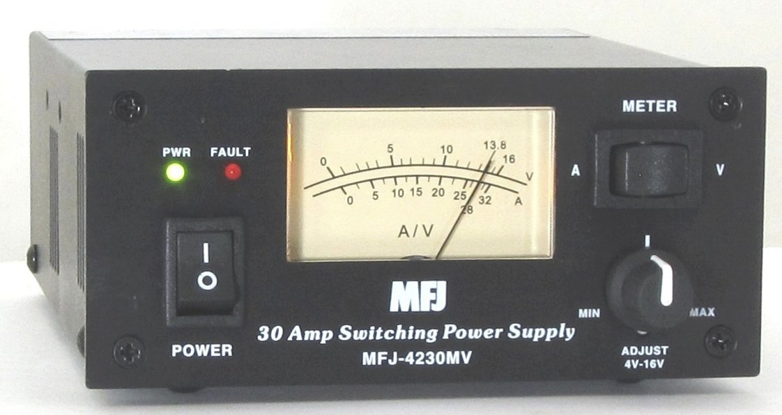 MFJ Enterprises Original MFJ-4230MV 30Amp Switching Compact Power Supply 13.8VDC