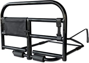 Stander Prime Bed Rail, Bariatric Bed Rail for Elderly Adults, Bed Safety Rail with Organizer Pouch