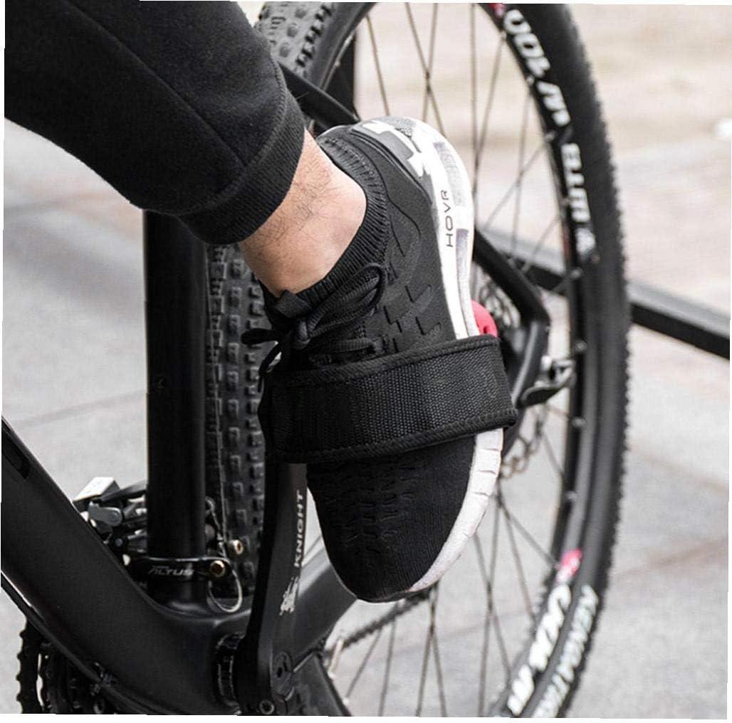 Pedalear Correas Bici De Kids Foot Pedal Correas Clips De Los Pies Correas De Cinta para Fijos 2pcs Bike Gear Negro