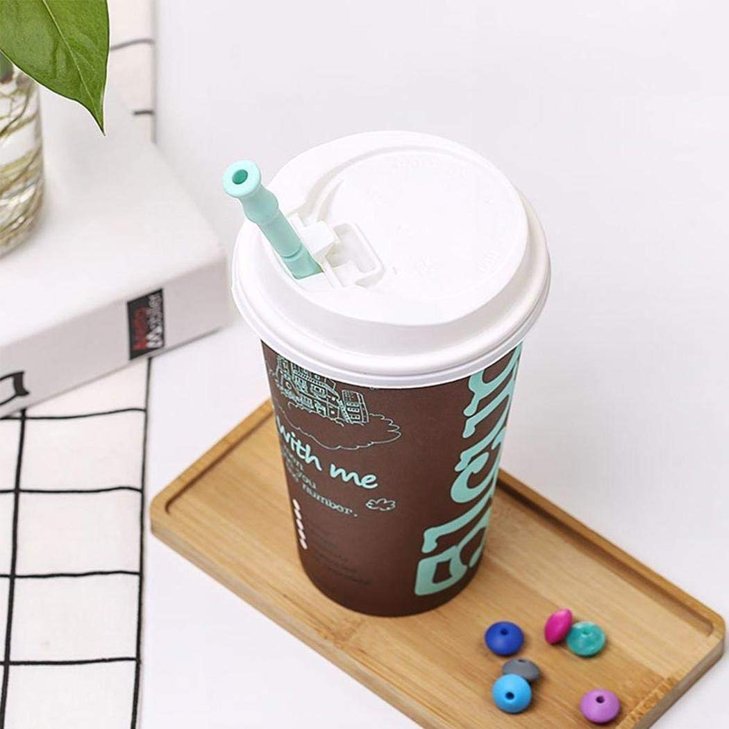 ICCUN Food Grade Silicone Straw Safe Healthy Reusable Folding Straw Muddlers by ICCUN (Image #4)