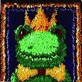 Caron WonderArt 12x12 Latch Hook Kit: Frog Prince