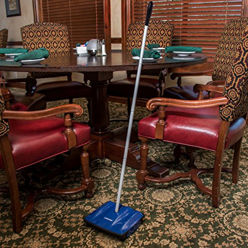 Carlisle 3639914 Duo-Sweeper Multi-Surface Cordless Floor Sweeper, 10″ Sweeping Path