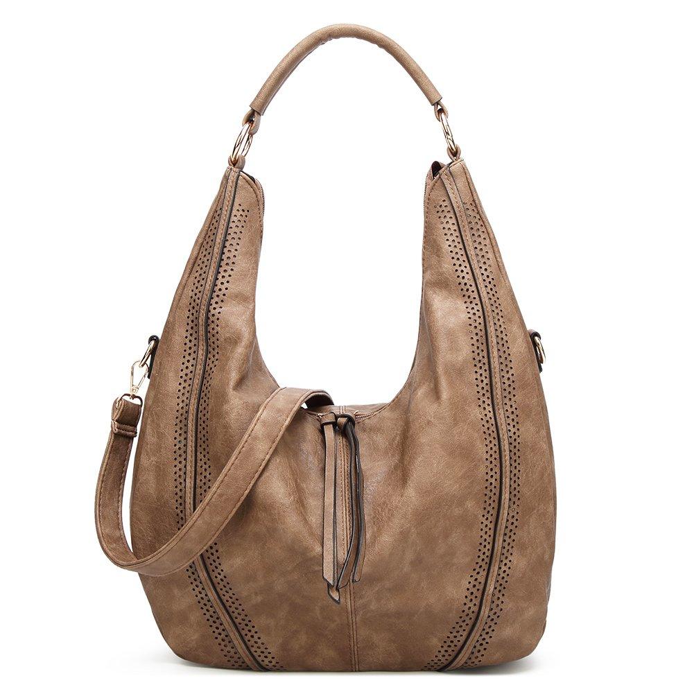 Handbags For Women, Joda PU Leather Shoulder Handbags Ladies Fashion Tote Bags Casual Hobo Shopping Bags Totes Daily Purses (Brown)