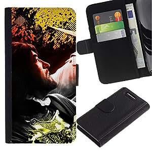 KLONGSHOP // Tirón de la caja Cartera de cuero con ranuras para tarjetas - Hombre - Sony Xperia Z3 Compact //