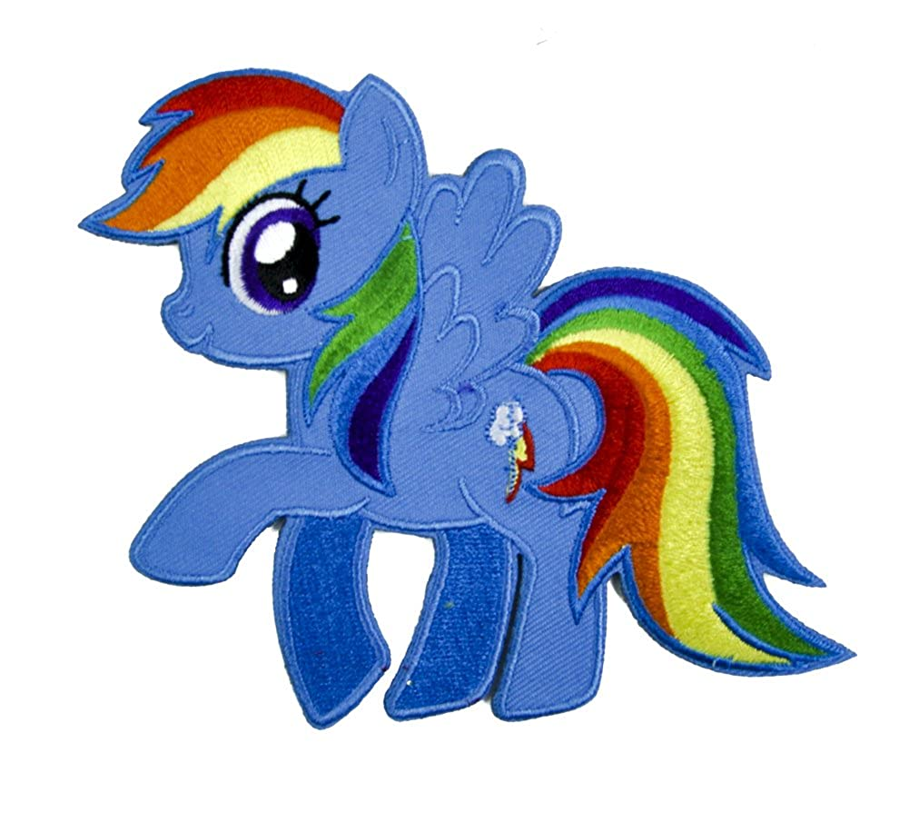 My Little Pony Rainbow Dash Patch Iron on Applique Alternative Clothing