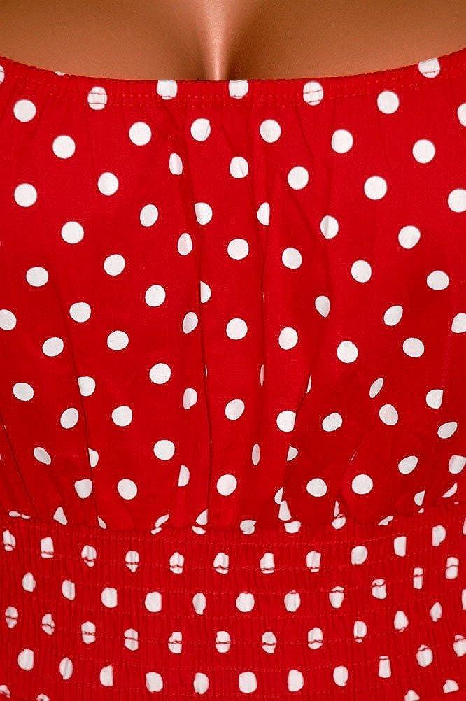 60ffb3577c Funfash Plus Size Women Polka Dots Rockabilly Retro Cocktail Dress Made in  USA funfash QI