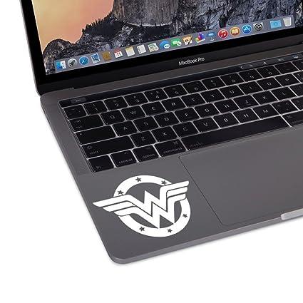 804f79afb935 Wonder Woman DC Comic Superhero Trackpad Keyboard Macbook Laptop Vinyl  Decal Sticker (White)