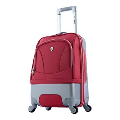 Olympia Majestic 21 Inch Expandable Carry-On Spinner, Red, One Size