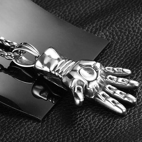 Wyanger Fashion Titanium Steel Pendant Vintage Hip Hop Punk Rock Necklace
