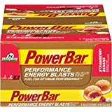 PowerBar Performance Energy Blasts Gel Filled Chews, Strawberry Banana, 2.12-Ounce Pouches (Pack of 12)