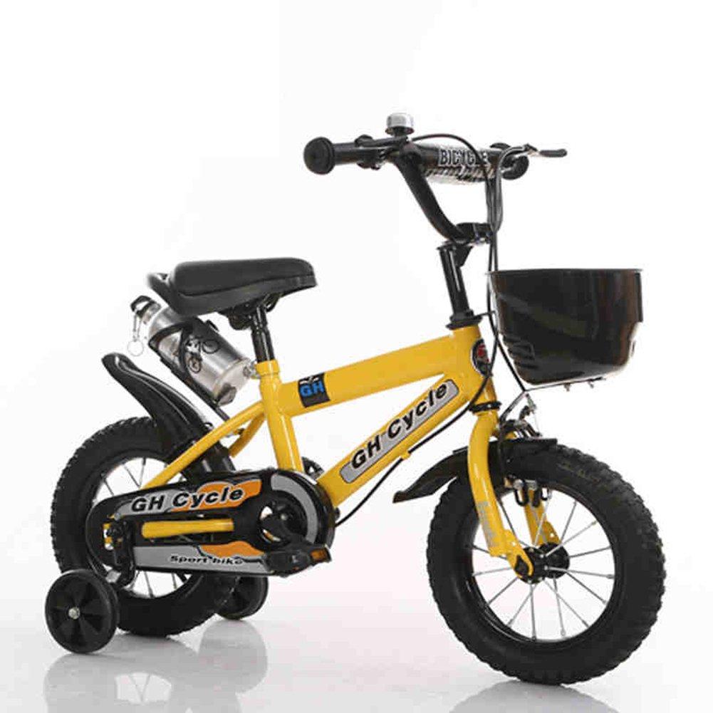 XQ 子供の自転車子供の赤ちゃんのキャリー2-3-6-8歳の男性と女性の自転車 子ども用自転車 ( 色 : イエロー いえろ゜ , サイズ さいず : 12-inch ) B07CK58Y1Cイエロー いえろ゜ 12-inch