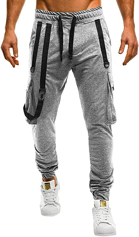 VPASS Pantalones Hombre,Pantalones Casuales Moda Deportivos Color S/ólido Rotos Pants Jogging Pantalon Fitness Gym Slim Fit Pantalones Largos Pantalones Ropa de Hombre Dise/ño de Personalidad