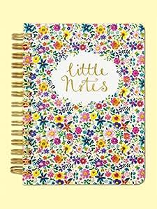 A6-Cuaderno de espiral doble diseño de flores