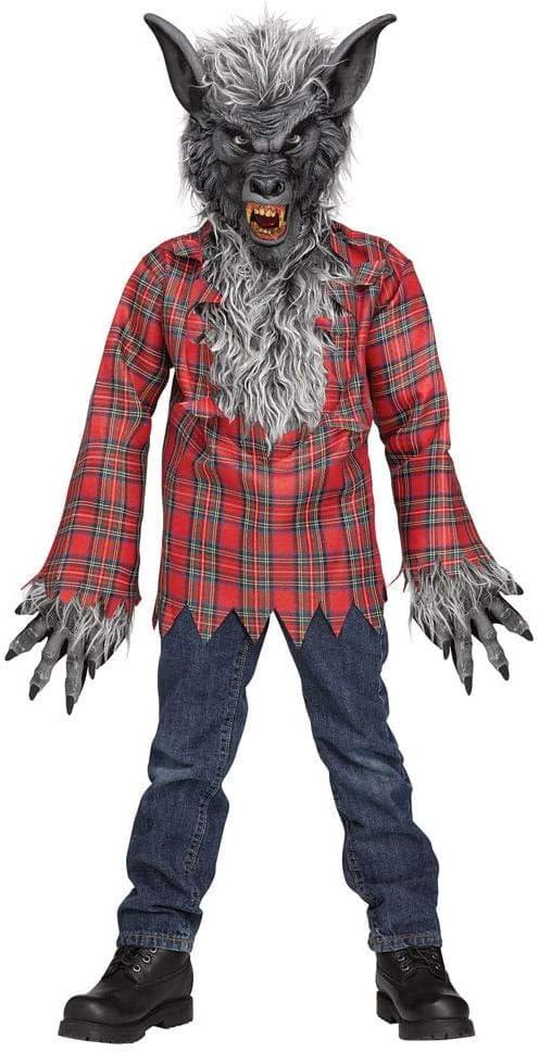 Niño Disfraz Hombre Lobo Gris L: Amazon.es: Juguetes y juegos