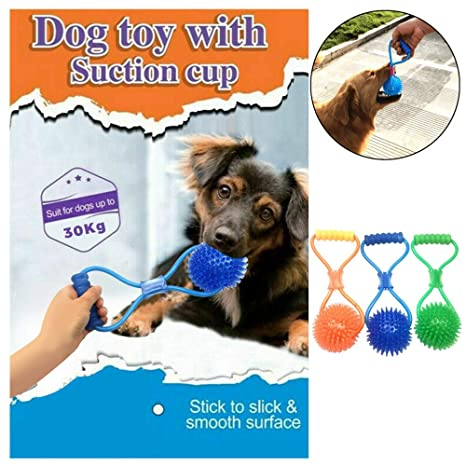 Juguete para mascotas - 1 pieza pelota de goma con ventosa ...