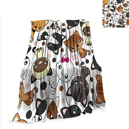 Anniutwo Manta sin Costuras patrón con Gatos Vector Lindo Kawaii ...