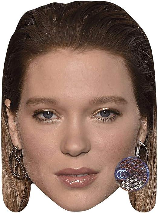 Card Face and Fancy Dress Mask Earrings Celebrity Mask Lea Seydoux