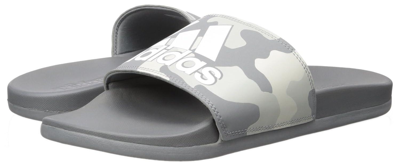 competitive price 45488 b1415 adidas gris dos tejidos Sandalia Adilette CF + Link GR Ftwr blanco Slide  para hombre Tela gris tres, Ftwr blanco, gris dos tejidos