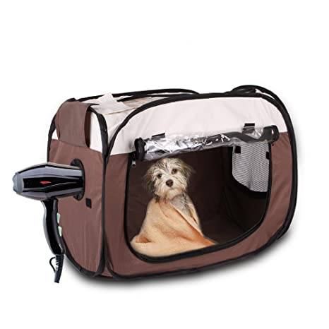 BDBQBL Caja de Secado para Mascotas, Plegable, Caja de Secado de Pelo para Mascotas