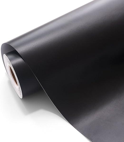 Vinilo adhesivo permanente con adhesivo permanente de vinilo negro artesanal de 30x300cm para proyectos artesanales y punzones: Amazon.es: Hogar