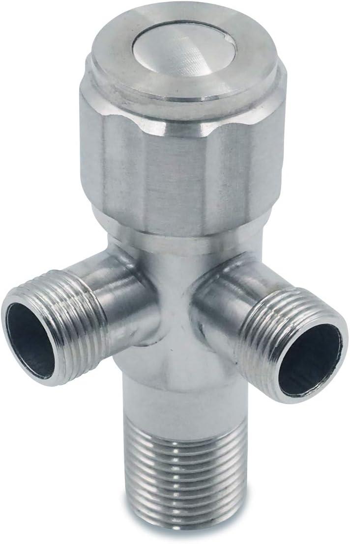 Edelstahl Doppel Eckventil f/ür Waschbecken Regulierventil 3//8 Zoll Wasser-Anschluss Eckventile