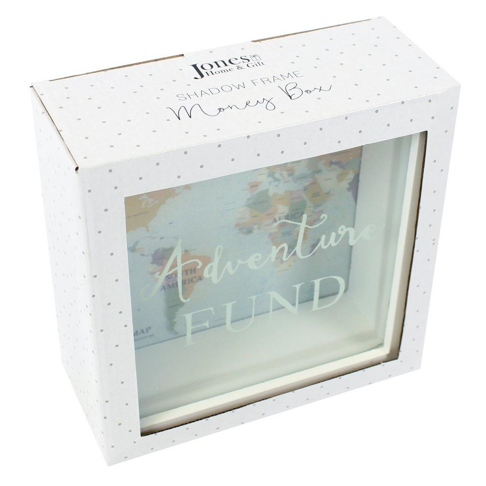 Jones Home and Gift Adventures Fund Frame Money Box, White: Amazon ...