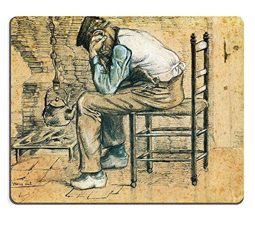 MSD Mouse Pad vincent van gogh peasant sitting by the fireplace worn out 1881 Customized Desktop Laptop Gaming Mousepads