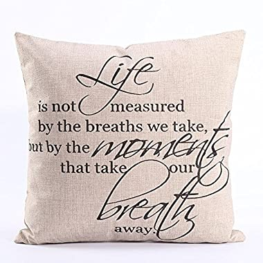 Dingoo Valentine's Gifts Big Love Words Cotton Throw Pillow Case Bed Sofa Cushion Cover 18 X 18 Inch