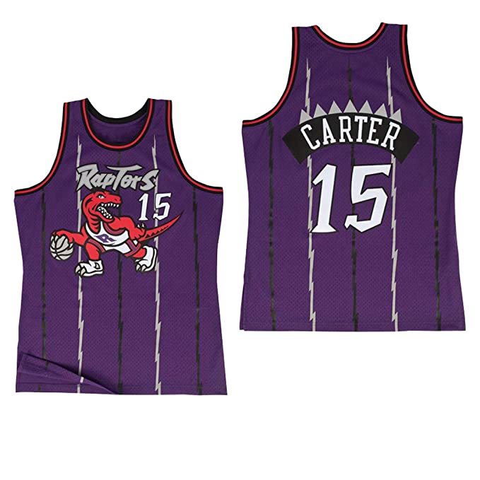 MFsports Toronto Raptors 15# Vince Carter 3D Impresión Jersey ...