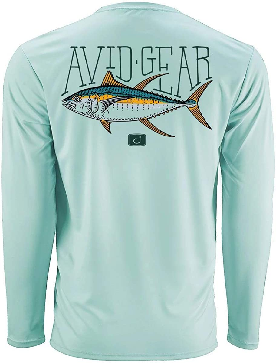 Avid Mens 50 UPF AVIDry Performance Long Sleeve Fishing Shirt