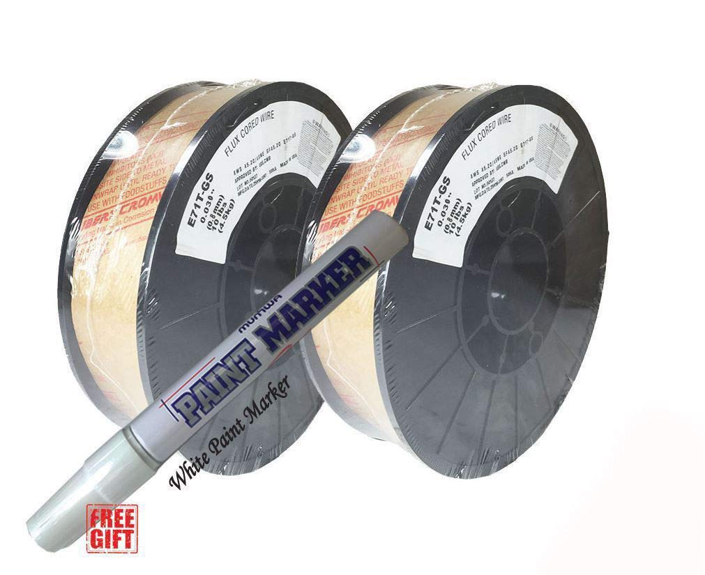 2 Rolls of E71T-GS .030 /& .035 10 LB Gasless Flux Core Welding Wire 0.030 2 Rolls