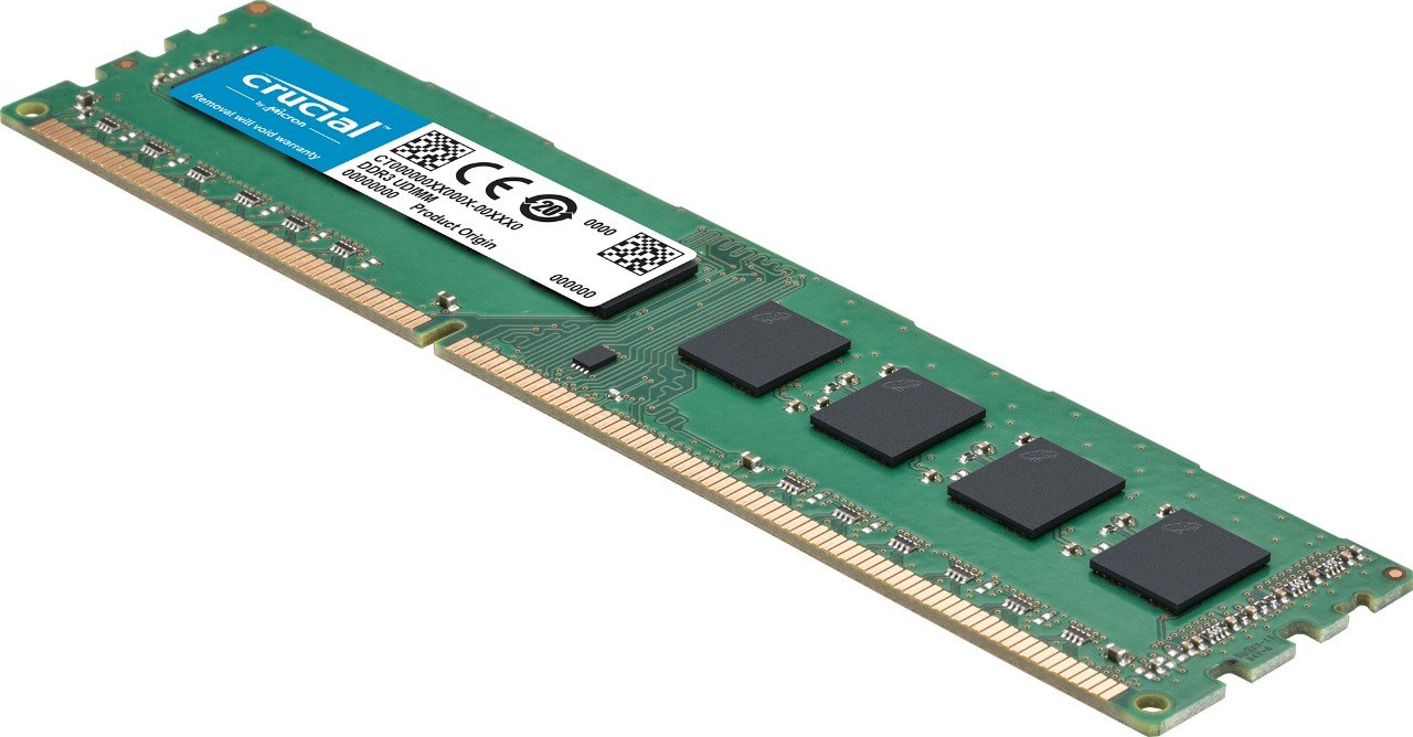 Crucial CT51264BD160BJ - Memoria RAM de 4 GB (DDR3L, 1600 MT/s, PC3L-12800, Single Rank, DIMM, 240-Pin)
