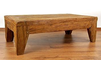 Asia Wohnstudio Rustic Reclaimed Teak Wood Table, Coffee Table, Handmade  Java Furniture (Indonesia