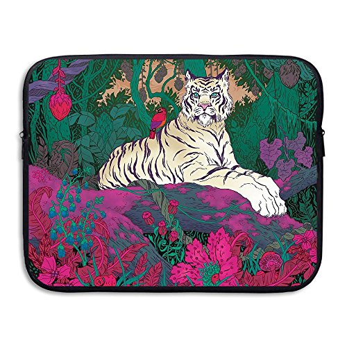 Business Briefcase Sleeve Sapphire Eye Tiger Laptop Sleeve Case Cover Handbag for 15 Inch MacBook Pro/MacBook Air/Asus/Dell/Lenovo/Hp/Samsung/Sony/Women & Men
