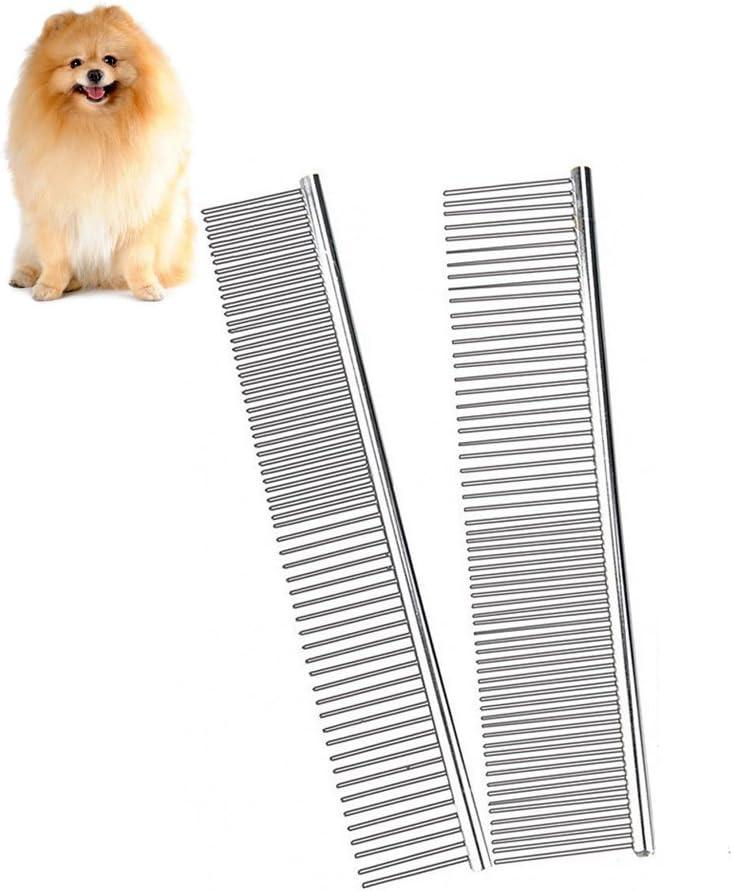 EZAGE Peine de Metal para Perros, Gatos, Cepillo de Acero ...