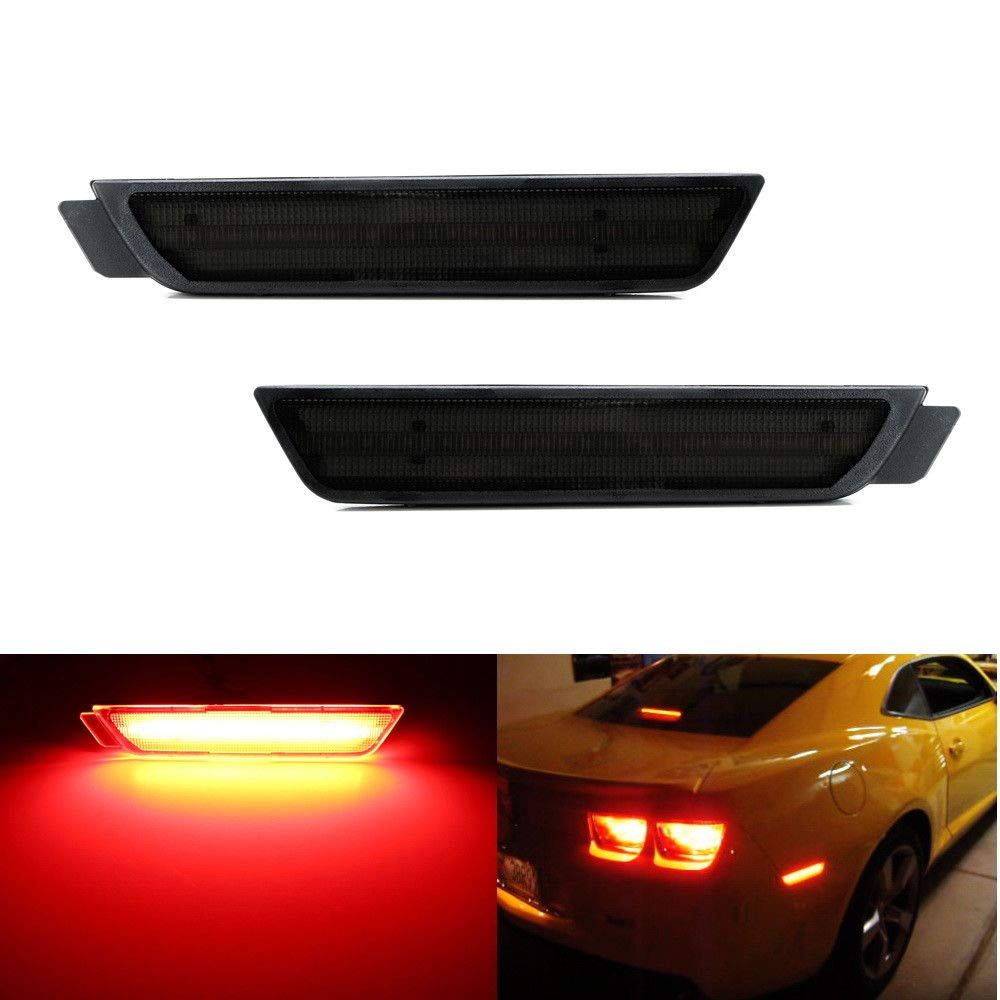 iJDMTOY Smoked Lens Red Full LED Rear Side Marker Light Kit For 2010-15 Chevy Camaro, Powered by 27-SMD LED, Replace OEM Back Sidemarker Lamps iJDMTOY Auto Accessories Change Left/Right Original Lamp Assembly