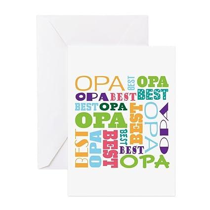 Amazon cafepress best opa gift greeting card note card cafepress best opa gift greeting card note card birthday card blank m4hsunfo