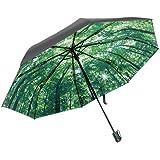 ユニークモール(UniqueMall)折り畳み傘 晴雨兼用 遮光傘 軽量楽々 頑丈な6本骨 耐風撥水 UVカット遮光遮熱
