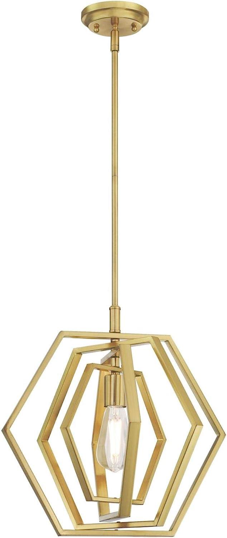 Westinghouse Lighting 6369700 One-Light Indoor Pendant Light, Champagne Brass Finish