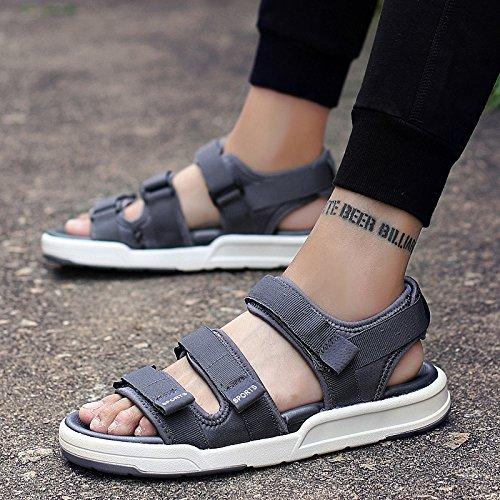 Xing Lin Sandalias De Hombre Sandalias De Verano Negro Nuevo Calzado De Playa gray