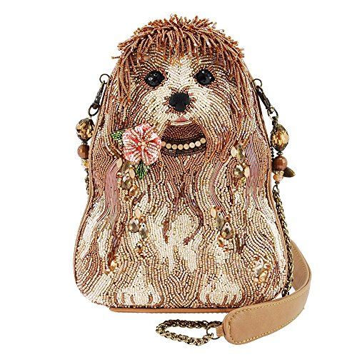 MARY FRANCES Rezzy Beaded Puppy Dog Shoulder ()