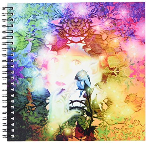 3dRose db_127908_1 Little Fae is a Sparkling Little Pixie Girl Living in an Enchanted Realm of Magic Floral Leaves Drawing Book, 8 by ()