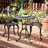 Andover Outdoor 3pc Copper Cast Aluminum Bistro Set Review