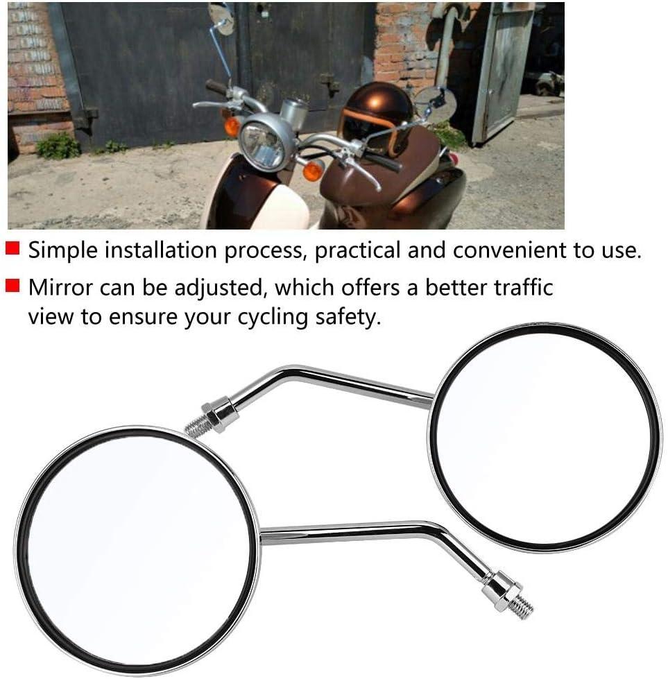 v/élos de rue VTT placage v/éhicules tout-terrain et scooters 1 paire compatible pour la paire 8mm droit et gauche r/étroviseurs universels de moto R/étroviseur rond pour motos